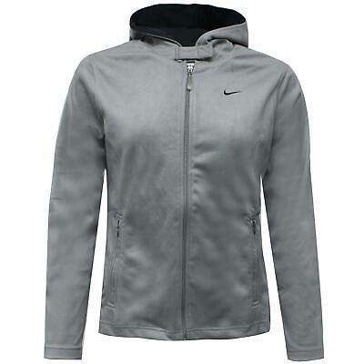 Nike Womens Suede Feel Hoodie Full Zip Up Jacket Grey 222405 002 S