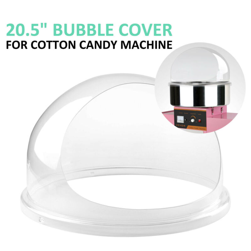 """Cotton Candy Floss Machine Cover 20.5"""" Dome Clear Durable Polyester"""