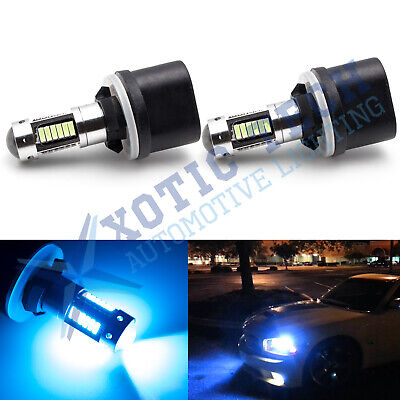 8000K Bright Ice Blue 880 893 899 LED Bulbs DRL Daytime Driving Fog Light Lamps
