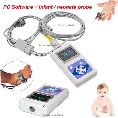 Infantpediatric Fingertip Pulse Oximeter Blood Oxygen Heart Rate Monitor Cms60d