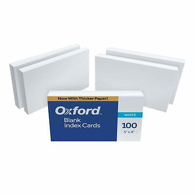 Oxford Blank Index Cards 5 X 8 White 500 Cards 5 Packs Of 100 50