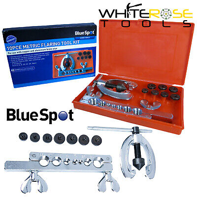 BlueSpot Freno Abocardador de Tubos Kit Cobre Tubo Aluminio Mecánico 5-16mm 10pc