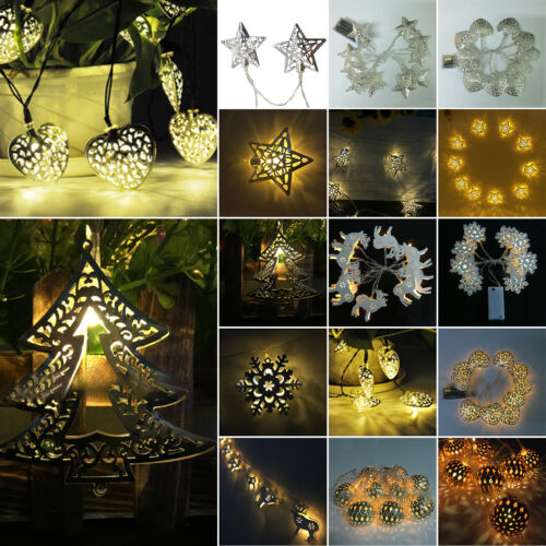 Metal LED 2020 Lights Battery Operated String Fairy Lamp Hol