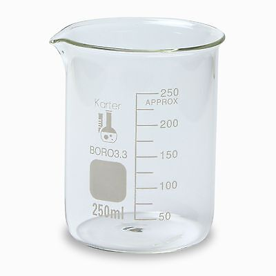 Karter Scientific 250 Ml Low Form Graduated Glass Beaker