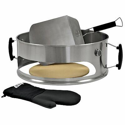 BBQ-Toro Edelstahl Pizzaring 57 cm Pizza Aufsatz passend für 57 Weber Kugelgrill