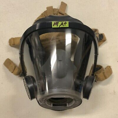 Scott Av3000 Sureseal Firefighter Scba Mask Greynosecup 5pt Kevlarheadnet Medium