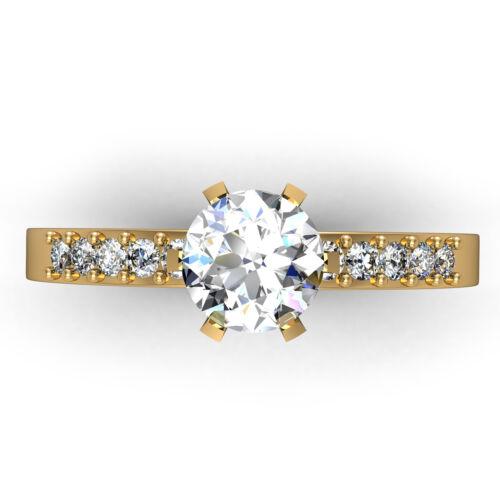 GIA Certified Round Shape Diamond Engagement Ring 1.25 Carat Platinum