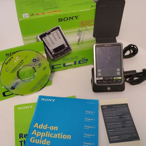 Sony Clie PEG-SL10/U PDA Palm Pilot Handheld Personal Entertainment Organizer