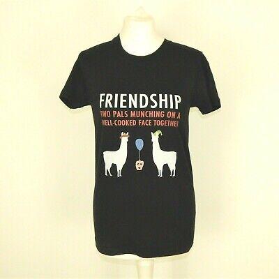 Llamas In Hats (Llamas In Hats Black T-Shirt Size Large Friendship Hey)