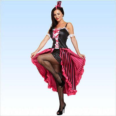 CanCan sexy Damenkostüm Gr. 38-42 Tanzkostüm Kostüm Kleid Kleidung Can Can