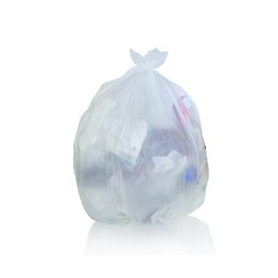 Toughbag Clear Trash Bags, 65 Gallon Garbage Bags (50) 50 Case