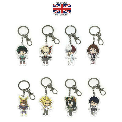 My Hero Academia Acrylic Keychain Anime Izuku Midoriya Todoroki Keyring UK