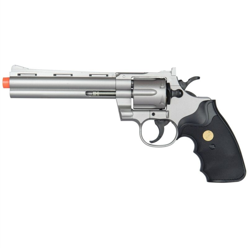357 MAGNUM REVOLVER FULL SIZE SPRING AIRSOFT HAND GUN PISTOL w/ Shells 6mm BB