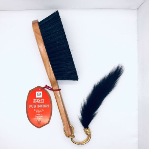 Vintage KENT Of London Fur Brush with Tag