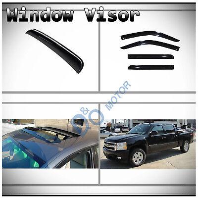 - 5pcs Vent Shade Window+Sun/Moon Roof Visors Fit Chevy/GMC/Cadillac SUV/Crew Cab