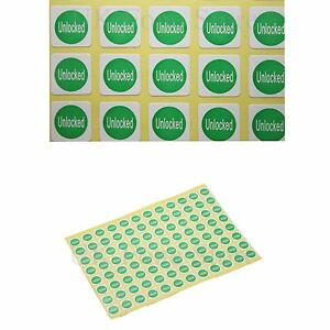 Network Stickers Unlocked Network Label Display Mobile Phone Smartphones Sheet