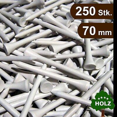 Golf Tees / Holz Tees / 70 mm / 250 Stk. / weiß / premium Qualität / Top