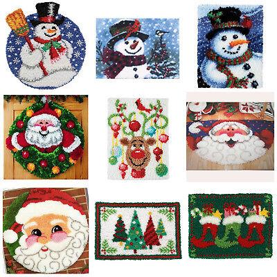 GEX Latch Hook Rug Kit 19.6'' Craft Christmas Gift Decoration Rug Making Santa ()