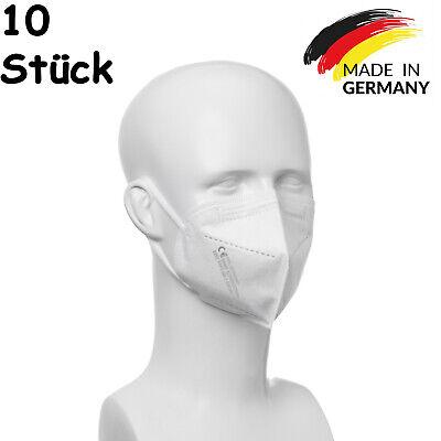 10x FFP2 Maske aus Deutschland Mundschutz Atemschutzmaske CE Made in Germany