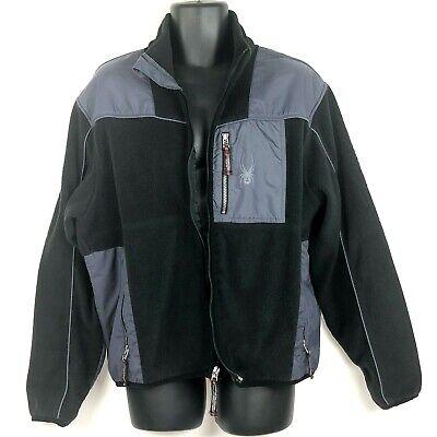 Spyder Mens L Jacket Fleece black gray snowboarding coat