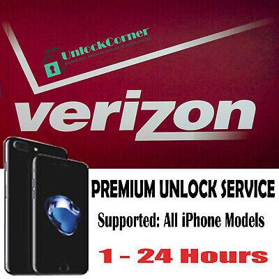 Verizon Premium Unlock Service iPhone 11PM 11P XS XR X 8+ 8 7+ 7 6S SE 6+ 6 5S