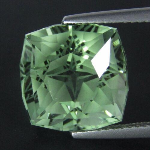 10.60Ct Natural Green Amethyst (prasiolite) Cushion Custom Cut Loose Gem Ref VDO