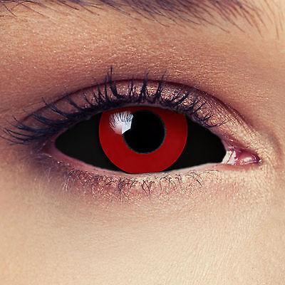 Sclera Kontaktlinsen schwarz rot 22mm Tokyo Ghoul Anime Cosplay Saw Puppe (Puppe Kostüm)