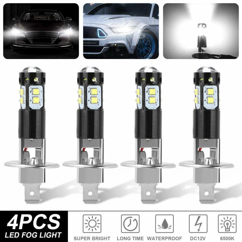 4x H1 200W Super Bright CREE LED Headlight Fog Driving DRL Bulbs Kit 6500K White