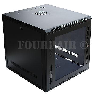 9u It Wall Mount Network Server Data Cabinet Rack Locking...