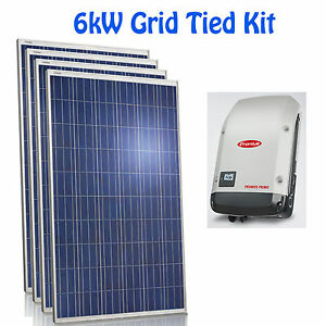 6kw solar panel fronius inverter grid tied net metering panneau solaire onduleur ebay. Black Bedroom Furniture Sets. Home Design Ideas