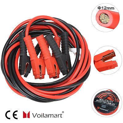 1200Amp 2x 6m KFZ PKW Starthilfekabel Set Überbrückungskabel Starterkabel Kabel