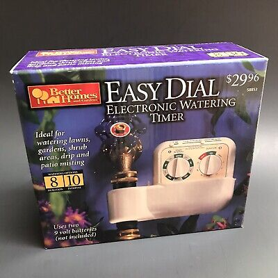 Easy Dial Electronic Watering Timer Better Homes And Gardens VTG NOS