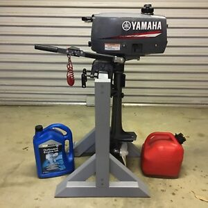 Inflatable boat / dingy, Yamaha 2 hp outboard, marine ply floor