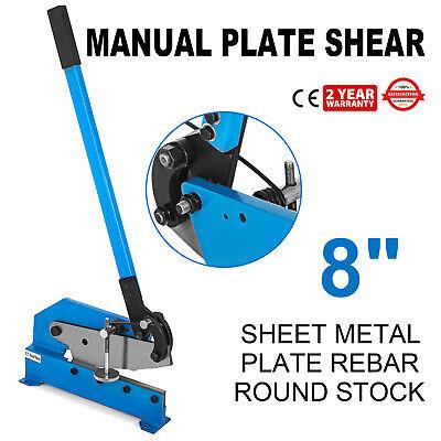 8 Length Sheet Metal Plate Cutting Bench Hand Shear Machine Toolsmillar
