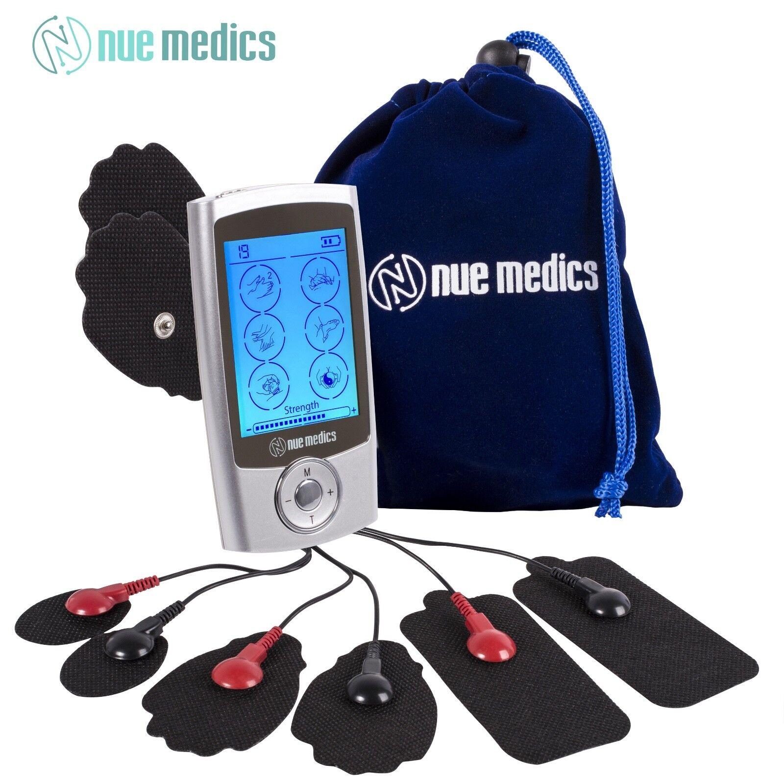 NueMedics PRO 24 Rechargeable TENS Unit with 8 Reusable Pads