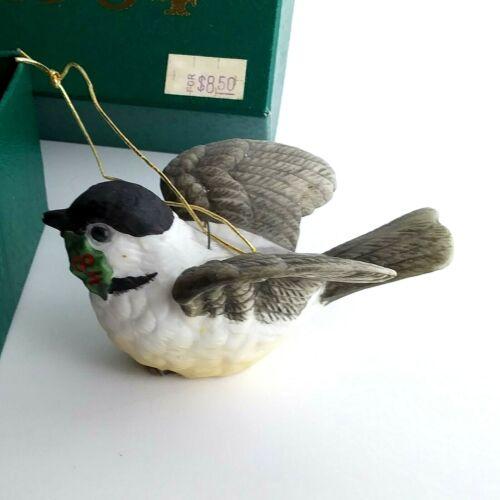 Dave Grossman Collectible Bird Ornament Chickadee 1984