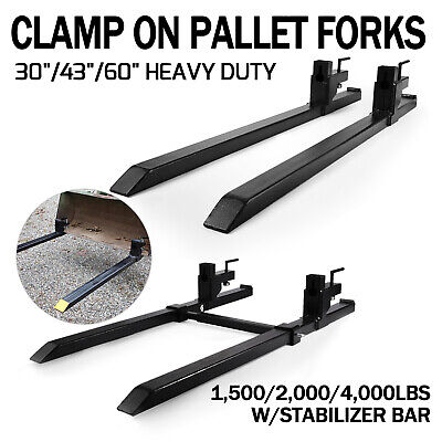 1500lb2000lb4000lb Clamp On Loader Bucket Skidsteer Tractor Pallet Fork Chain