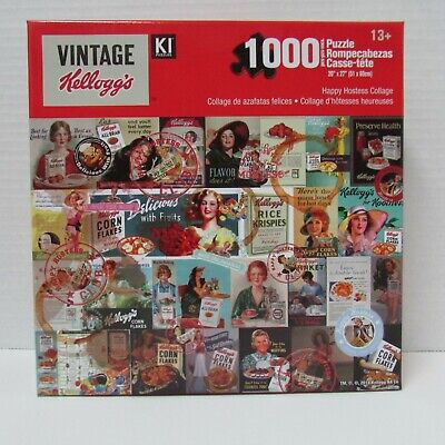 Vintage Kellogg's Puzzle - Happy Hostess Collage - 1000 pieces - NEW sealed