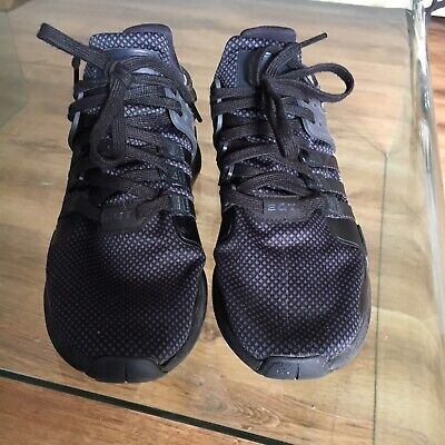 Adidas Equipment EQT Support Advance Trainers Used Black Size 9.5 UK 44 EU