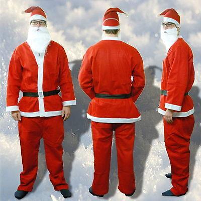 Deluxe Weihnachtsmannkostüm 5 Teilig Weihnachtsmann Kostüm Weihnachten Nikolaus