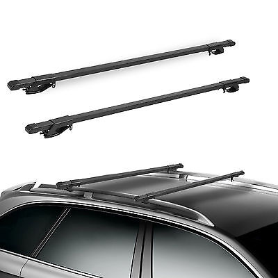 "48"" Car Top Roof Rails Racks Cross Bar Pair For Universal Cargo Carrier Luggage"