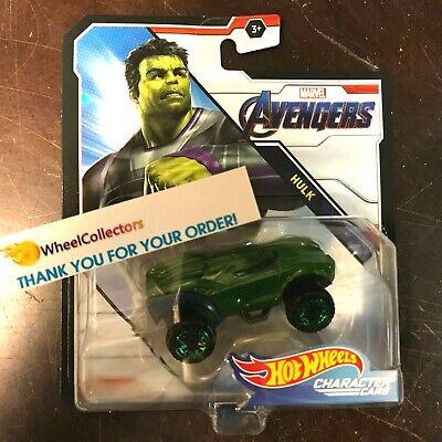 Hulk * 2019 Hot Wheels MARVEL AVENGERS Character Cars * Case K * Y54