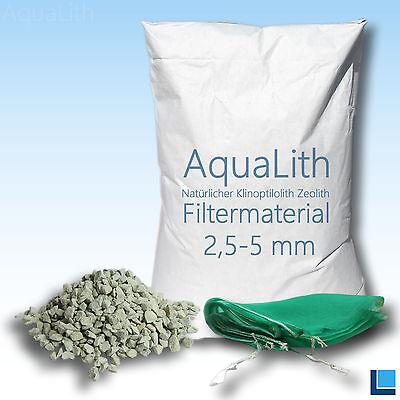 ZEOLITH 2,5-5 MM 25 KG + 2x Filtersäcke XL Filtermaterial Koi Teich Aquarium online kaufen