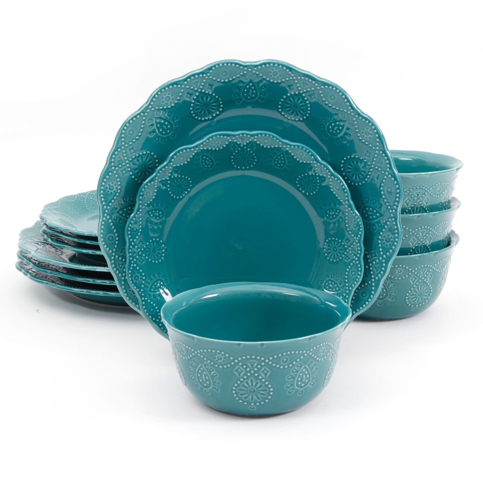12 piece dinnerware set serving dishes service