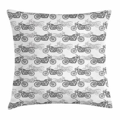 Motorcycle Throw Pillow Cases Cushion Covers Ambesonne Accen