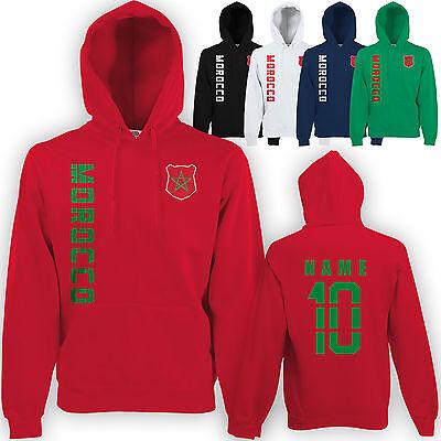 Marokko Morocco Hoody Kapuzen Pullover Trikot mit Name & Nummer S M L XL XXL