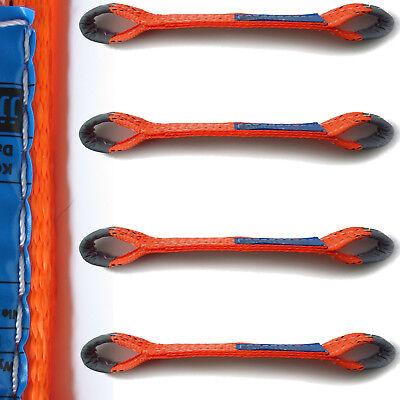 4x PROFI 50mm Quergurt für Spanngurt AUTO TRANSPORT GURT Zurrgurt Radsicherung 1