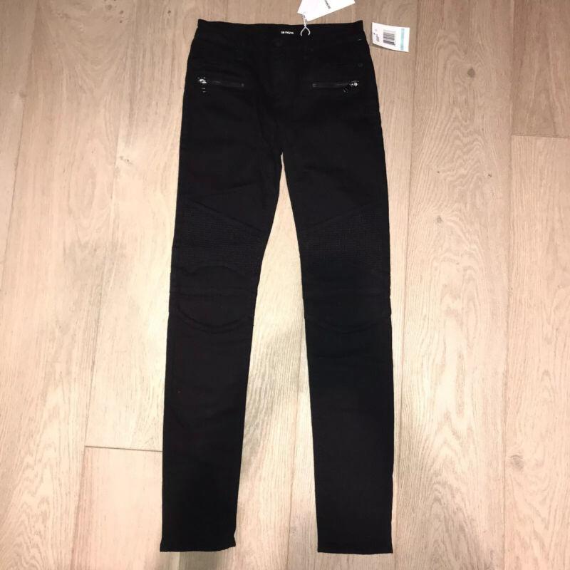 HUDSON Jeans Girls Moto Skinny Jeans Black 16