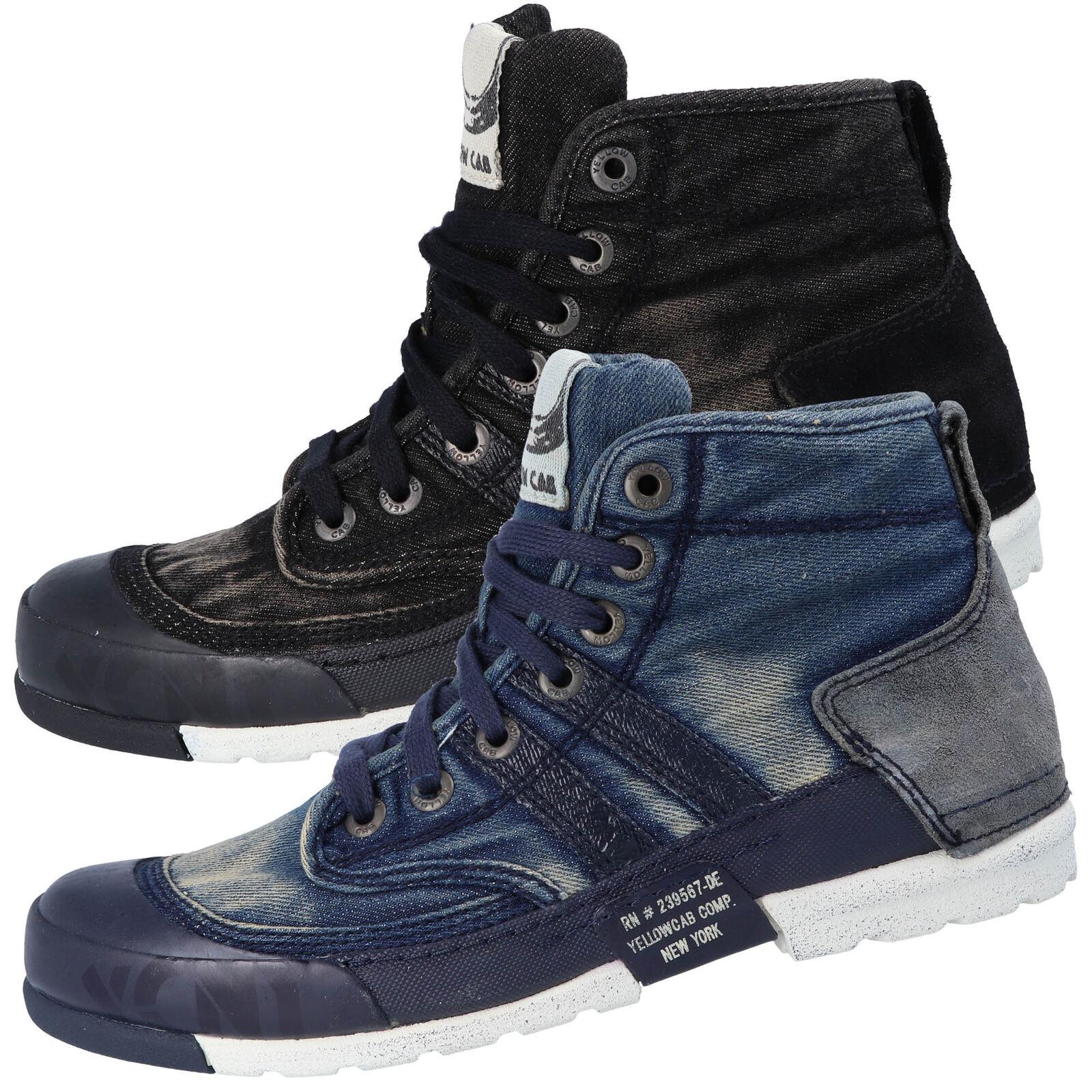 6da287b39f35f Yellow Cab MUD M Y15463 Herren Hohe Halbschuhe Sneaker Jeans Optik Blau  Schwarz