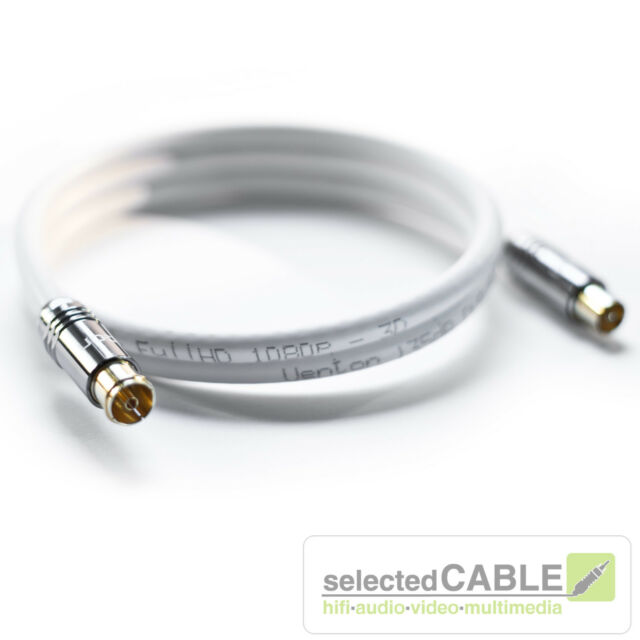 HDTV Antenna Cable 8m 135db 5 x Shielded Class A + DVB-C + hi-ancm01